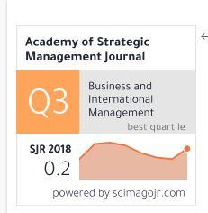 Academy of Strategic Management Journal